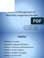 Pitfall in Management of Neonatal Urogenital Disorder 21 08 15