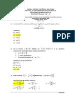 2S-2015 Matemáticas SegundaEvaluacion 08H30 Version0