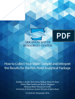 2016 02 Fish Pond Analytical Package How to Collect Sample Arkansas