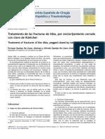 2009 Tratamiento de las fracturas de tibia, por enclavijamiento cerrado con clavo de Küntcher