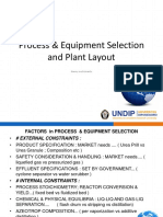 Equipment Selection & Plant Layout