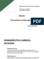 Módulo Hermenéutica Jurídica Aplicada