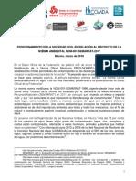POSICIONAMIENTO DE LA SOCIEDAD CIVIL EN RELACIÓN AL PROYECTO DE LA NO RMA AMBIENTAL NOM-001-SEMARNAT-2017