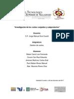 Investigación de Los Costos Conjuntos y Subproductos