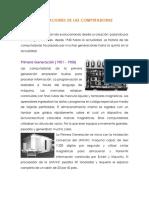 Generaciones de Computadoras (Tecnología 1)