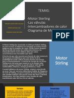 Ciclo Stirling, Intercambiadores de calor,  Las valvulas y diagrama de mollier.
