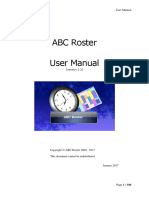 Abcroster 2.3 Manual