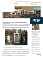 Research on Palombara and the Porta Magica in Rome, Italy