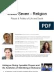Week Seven - Religion
