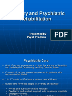Recovery and Psychiatric Rehabilitation