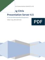 Installation of Citrix Presentation Server 4.5