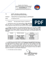 Letter to LU Re Revised Quarterly Report