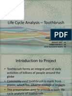 life cylce analysis of toothbrush