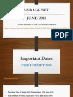 CSIR NET 2018 June Dates announced