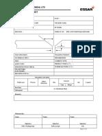 Welding Data Sheet