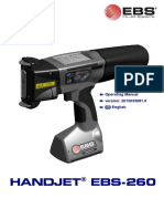 Ebs 260 Manual Handjet Portable Printer Users