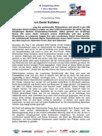 Eisspeedway Berlin 2018, Pressemitteilung 180303