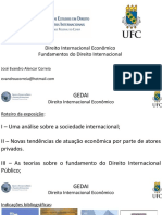 Apresentação - Fundamentos Do Direito Internacional e Direito Internacional Econômico