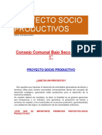 Proyecto Socio Productivos Ramon Bolivar