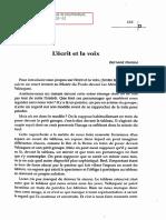 Bernard Nominé, L'Écrit Et La Voix