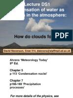 DS L1 Cloud Droplet Formation