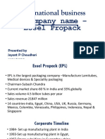 Essel Propack Jayant