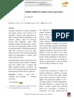 Variability and Correlation Studies in Cowpea (Vigna Unguiculata)