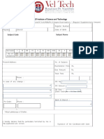 Ph.d Regular Examination Form