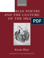 Victorian Poetry and the Culture of the Heart