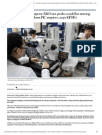 Budget 2018_ SG R&D Tax Perks Could Be Among World's Weakest When PIC Expires, Says KPMG - ST