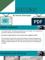 tv advertisement presentation