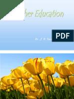 Teacher Education by Dr J R Sonwane