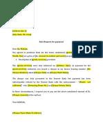 Cheque Return Letter Format