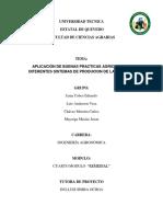 Proyecto Eduardo Jama, Vera, Chavez