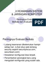Evaluasi Keamanan Sistem