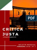 CRÍTICA JUSTA - BOLETÍN Nº1 (FEBRERO)