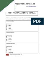 Tropa y Marinería - Ejemplo Test Razonamiento Verbal