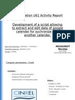(ANGLAIS)Rapport d'activité U61 Mouginot Nicolas.odp