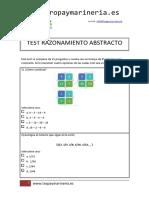Tropa y Marinería - Ejemplo Test Razonamiento Abstracto