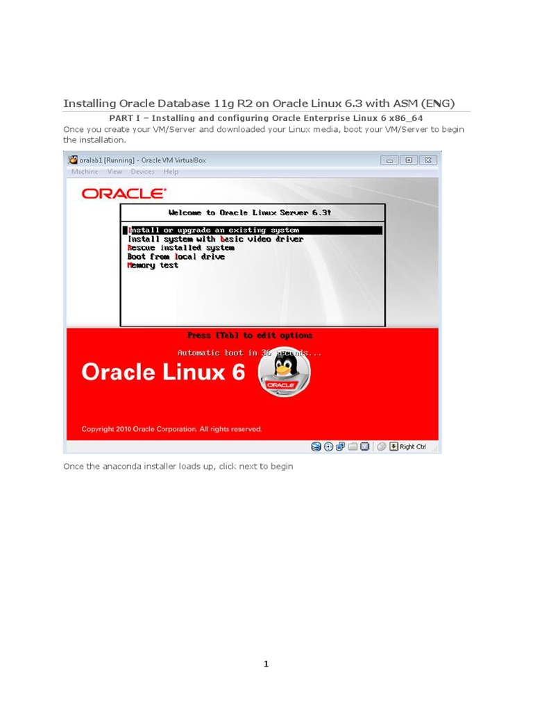 Installation Os Oracle Linux 6.6 | Oracle Database | Installation (Computer  Programs)