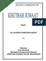 23.02.2018 (Rumi) Al-quran Panduan Hidup