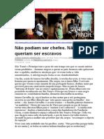 Racismo Em São Tomé e Príncipe