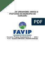 Lei 2454 Cód de Obras Atual Caruaru -CÓDIGO DE OBRAS DE CARUARU - PERNAMBUCO