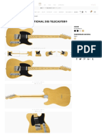 Fender Made in Japan Traditional 50s Telecaster® Maple Vintage Natural