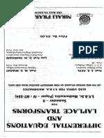 Diff Equation and Laplace Transform Nirali Prakashan Bsc Book
