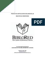 Bibliotecas Comunitarias. Proyecto de Articulación e Inclusión