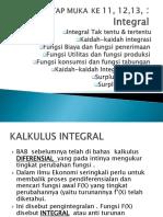 11. Matematika Ekonomi Integral Dan Aplikasi Ekonomi