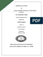 Akhil Gangesh Roll No 14, Sem 6th Administrative Law