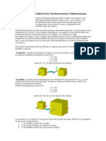 Representacion Matricial de Transformaciones Tri Dimension Ales