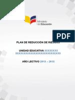 Formato Plan de Reducción de Riesgos 2017